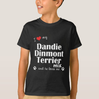 Jag älskar min Dandie Dinmont Terrierblandning Tshirts
