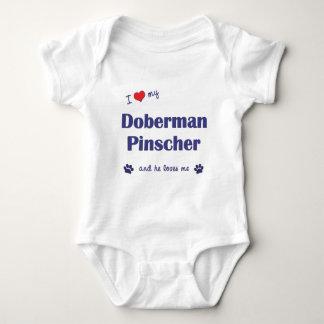 Jag älskar min DobermanPinscher (den Male hunden) Tröja