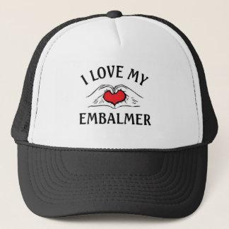 Jag älskar min Embalmer Truckerkeps