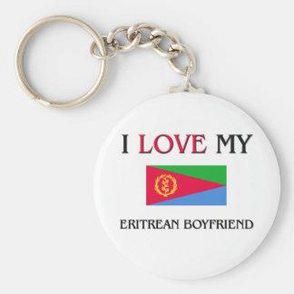 Jag älskar min eritreanska pojkvän rund nyckelring