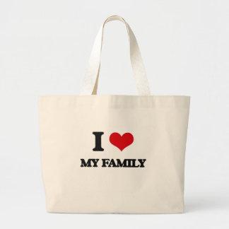 Jag älskar min familj tygkasse