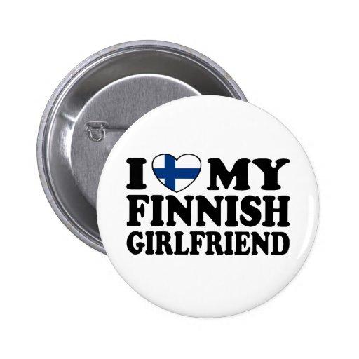 Jag älskar min finlandssvenska flickvän knapp med nål