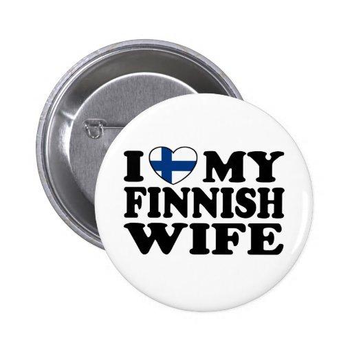 Jag älskar min finlandssvenska fru knappar med nål