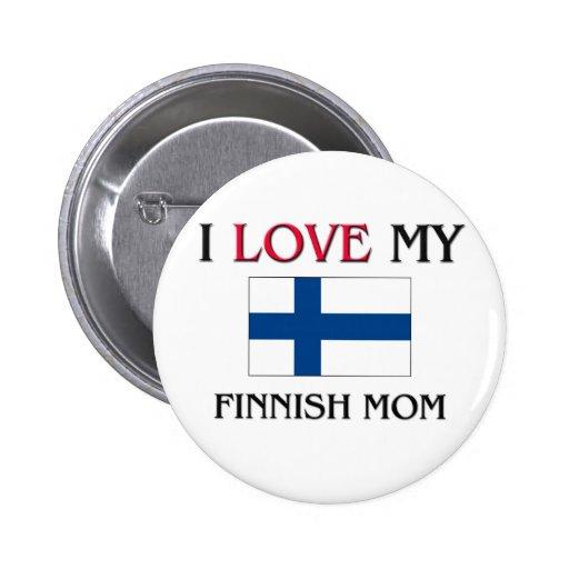 Jag älskar min finlandssvenska mamma knappar med nål