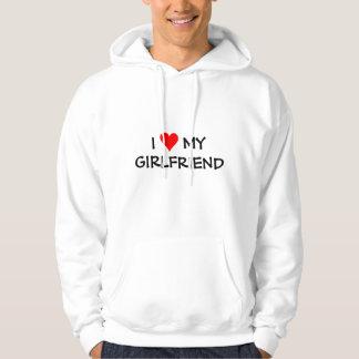 Jag älskar min flickvän hoodie