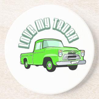 Jag älskar min gammala lastbil -, grön uppsamling underlägg sandsten