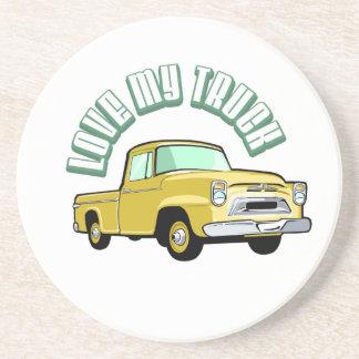 Jag älskar min gammala lastbil -, gul uppsamling underlägg