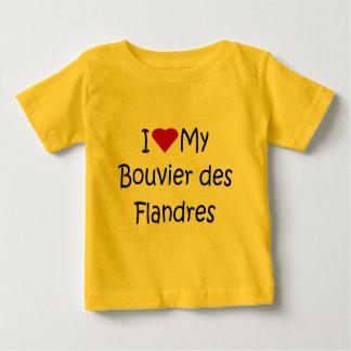 Jag älskar min gåvor för hund älskare för Bouvier T Shirt