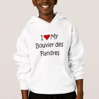 Jag älskar min gåvor för hund älskare för Bouvier T-shirts