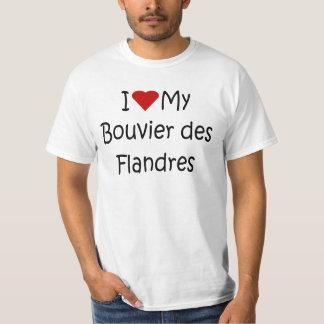 Jag älskar min gåvor för hund älskare för Bouvier Tshirts
