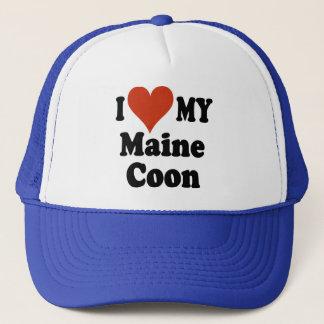 Jag älskar min gåvor och dräkt för Maine Coonkatt Keps
