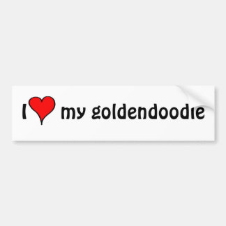 Jag älskar min Goldendoodle Bildekal