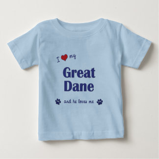 Jag älskar min great dane (den Male hunden) Tee Shirt