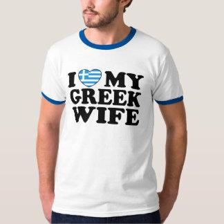 Jag älskar min grekiska fru tee shirt