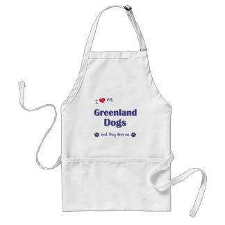 Jag älskar min Grönlandhundar (åtskilliga hundar) Förkläde