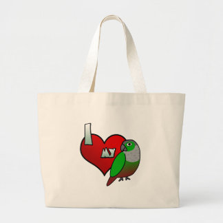 Jag älskar min grönt varade fräck mot Conure Tote Bags