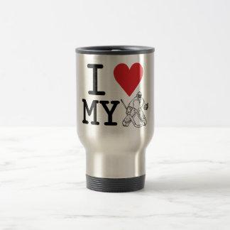 Jag älskar min hockeyGoalietravel mug Resemugg