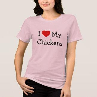 Jag älskar min hönor tee shirts