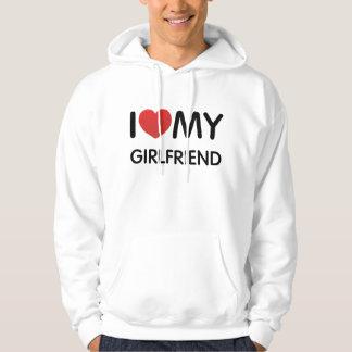 Jag älskar min Hooded tröja för flickvännen