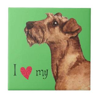 Jag älskar min irländska Terrier Kakelplatta