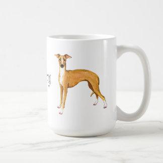 Jag älskar min italienska vinthund kaffemugg