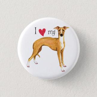 Jag älskar min italienska vinthund mini knapp rund 3.2 cm