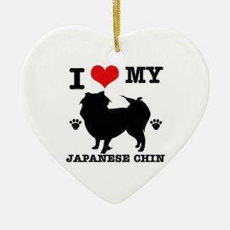 Jag älskar min japanska haka julgransprydnad keramik