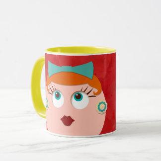 Jag älskar min Java rött Head Retro gal.