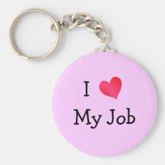 Jag älskar min jobbrosor rund nyckelring