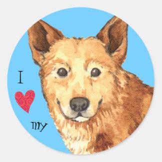 Jag älskar min Kanaan hund Runt Klistermärke
