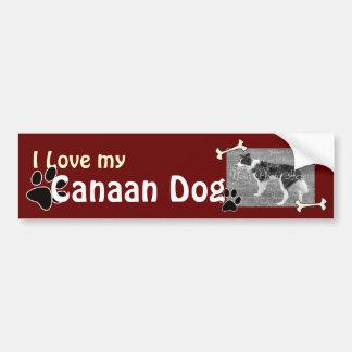 Jag älskar min Kanaan hundbildekal Bildekal