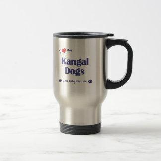 Jag älskar min Kangal hundar (åtskilliga hundar) Rostfritt Stål Resemugg