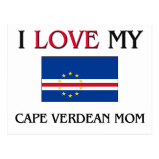 Jag älskar min kapverdiska mamma vykort