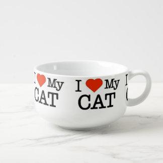 Jag älskar min katt mugg för soppa