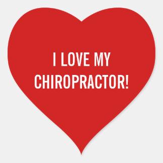 Jag älskar min kiropraktorklistermärkear hjärtformat klistermärke
