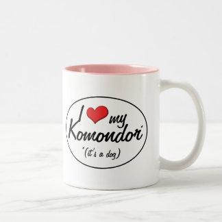 Jag älskar min Komondor (det är en hund), Två-Tonad Mugg