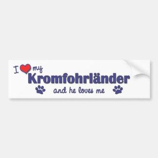 Jag älskar min Kromfohrlander (den Male hunden) Bildekal