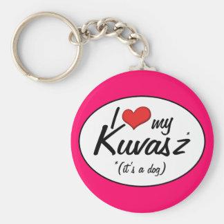 Jag älskar min Kuvasz det är en hund Nyckelring