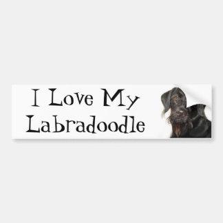 Jag älskar min Labradoodle Bildekal