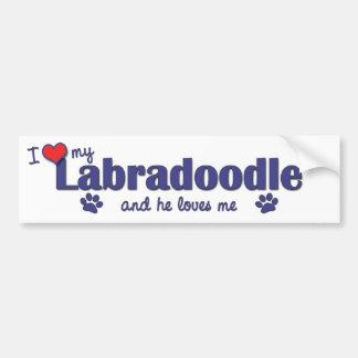 Jag älskar min Labradoodle (den Male hunden) Bildekal