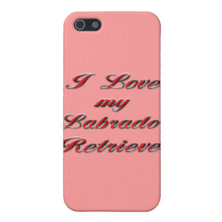Jag älskar min Labrador Retriever iPhone 5 Cases