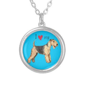 Jag älskar min Lakeland Terrier Silverpläterat Halsband