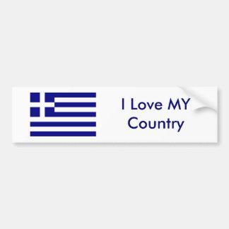 Jag älskar MIN landGrekland flagga MUSEET Zazzle Bildekal