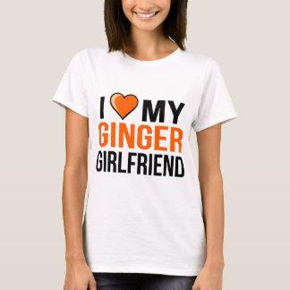 Jag älskar min ljust rödbrun flickvän tshirts