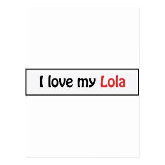 Jag älskar min lola vykort