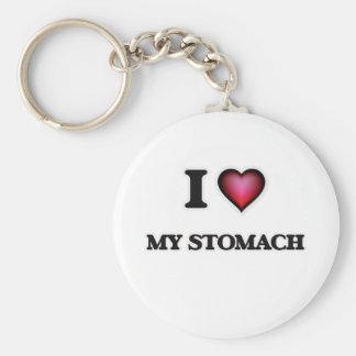 Jag älskar min mage rund nyckelring
