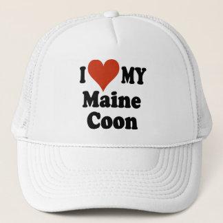 Jag älskar min Maine Coonhatt Truckerkeps