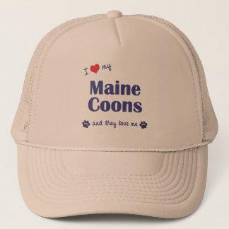 Jag älskar min Maine Coons (åtskilliga katter) Truckerkeps