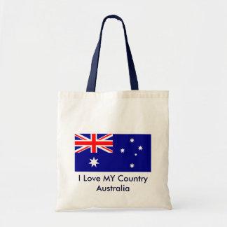 Jag älskar MIN mall för den landAustralien flagga Budget Tygkasse