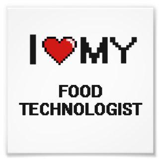 Jag älskar min matTechnologist Fototryck